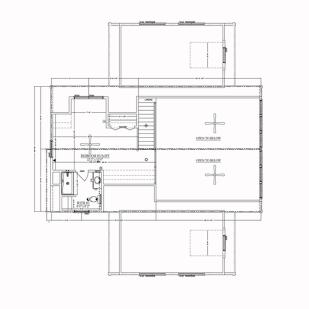 blue ridge log cabins floor plan jocassee V second floor