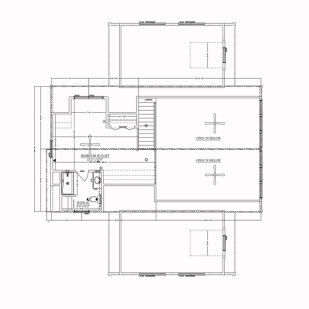 blue ridge log cabins floor plan jocassee V second floor