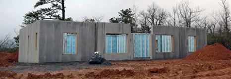 log cabin foundation-lr
