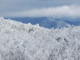 Winter view of Mt. Mitchell